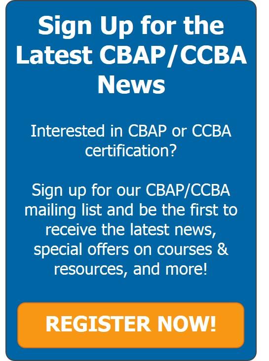 CBAP/CCBA Mailing List