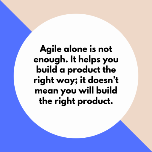 Agile alone is not enough